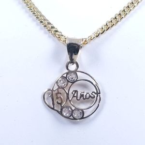 Jewelry - Solid 10KT Gold Sweet Quinceanera Pendant